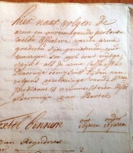 Armen in 1716