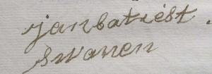 handtekening Jan Batiest Swanen